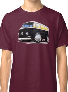 VW Bay Window Camper Van Black Classic T-Shirt