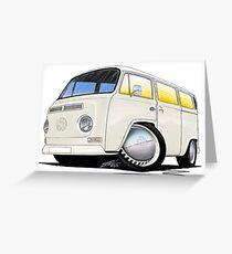 VW Bay Window Camper Van White Greeting Card