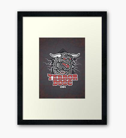 NY Terror Dogs Framed Print