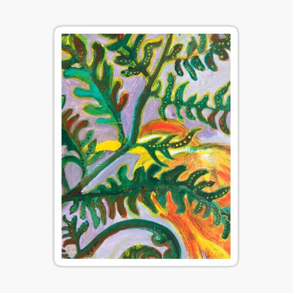 Heron in the Ferns Sticker