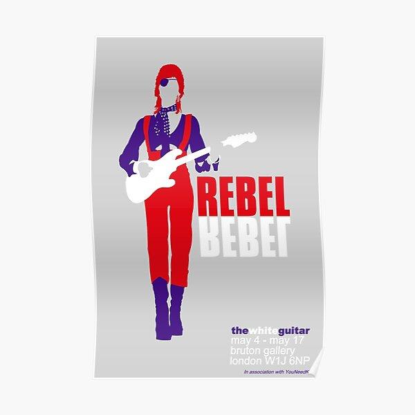 Icono de Glam Rock de los 70 David Ziggy Bowie Art Póster
