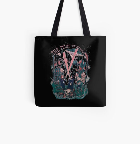 Out There Ode to The X Files All Over Print Tote Bag