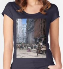 Curb Market in NYC, ca 1900 Fitted Scoop T-Shirt
