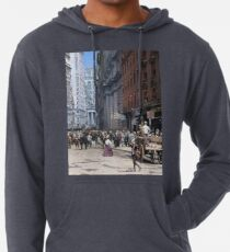 Curb Market in NYC, ca 1900 Lightweight Hoodie
