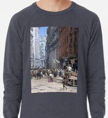 Curb Market in NYC, ca 1900 Lightweight Sweatshirt