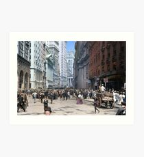 Curb Market in NYC, ca 1900 Art Print
