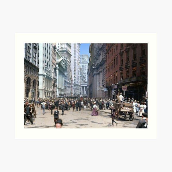 Curb Market in NYC, ca 1900 Art Print