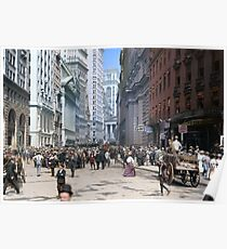 Curb Market in NYC, ca 1900 Poster