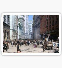Curb Market in NYC, ca 1900 Sticker