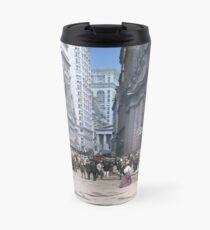 Curb Market in NYC, ca 1900 Travel Mug