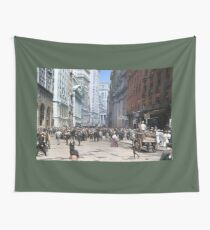 Curb Market in NYC, ca 1900 Wall Tapestry