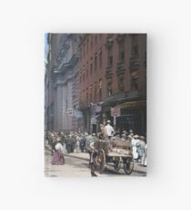 Curb Market in NYC, ca 1900 Hardcover Journal