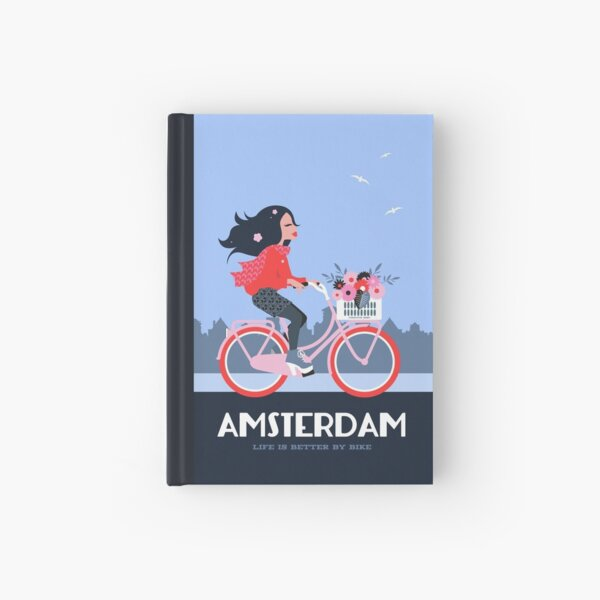 Amsterdam Bike Life Hardcover Journal