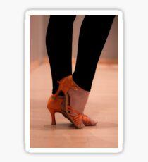 Woman Dance shoes Sticker