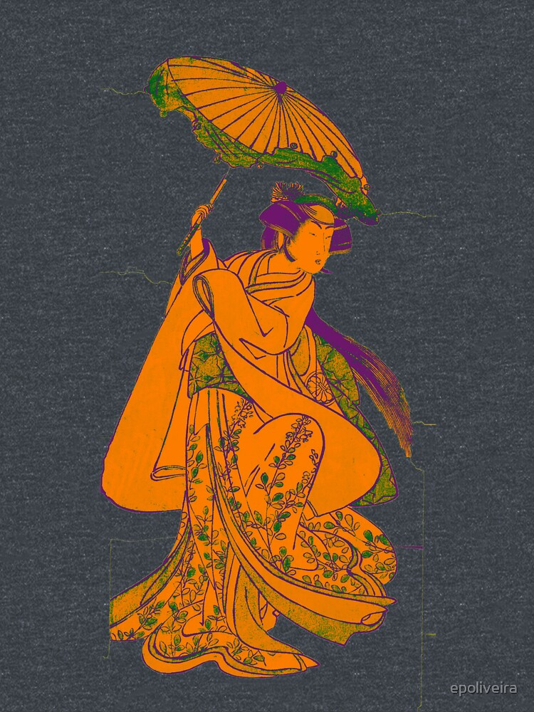 Yellow Japan Geisha Art by epoliveira