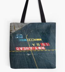 Runway Instructions Tote Bag