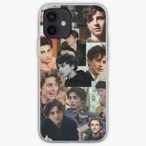 Timothee Chalamet Collage Coque souple iPhone
