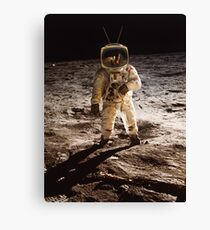 TV Astronaut moon walk Canvas Print