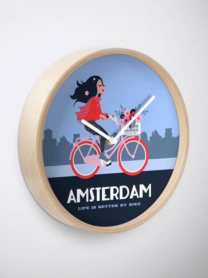 Alternate view of Amsterdam Bike Life Clock