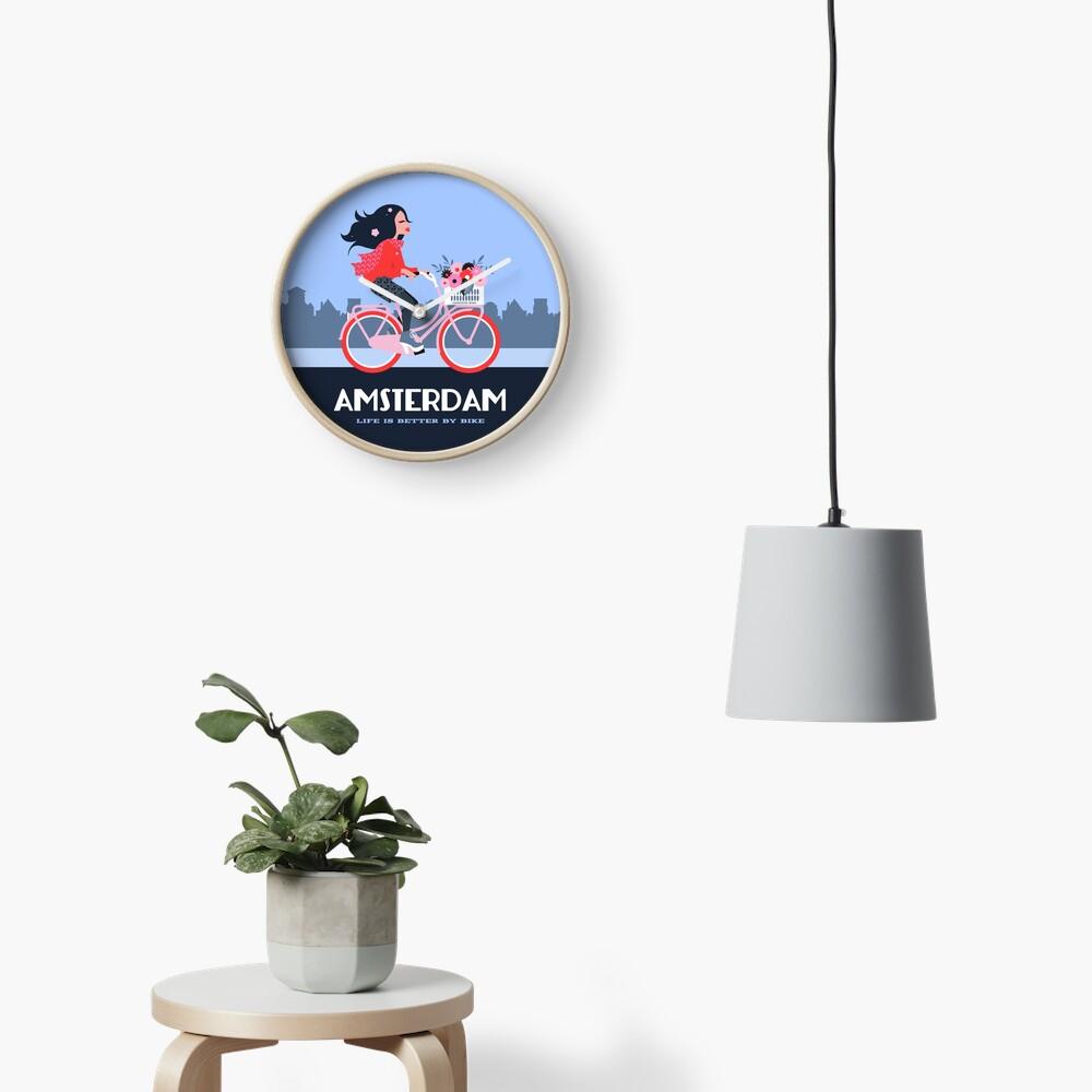 Amsterdam Bike Life Clock