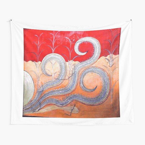 Minoan Octopus Fresco Tapestry