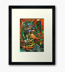 Portrait of a Futurist 5. Framed Print