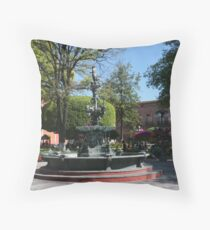 Queretaro Mexico Plaza Throw Pillow