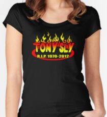R.I.P. TONY SLY!! Women's Fitted Scoop T-Shirt