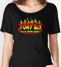 R.I.P. TONY SLY!! Women's Relaxed Fit T-Shirt