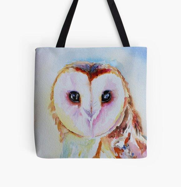 Barn Owl All Over Print Tote Bag