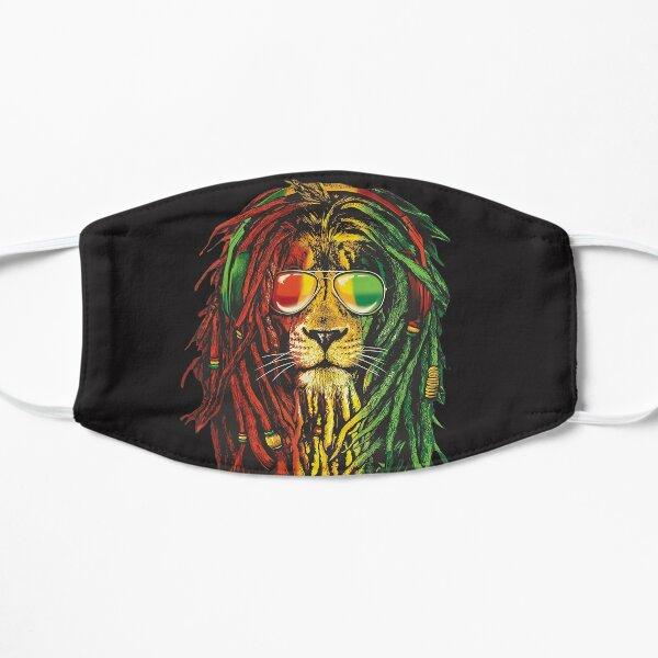 Cool Rasta Lion Of Judah Art Dreadlock Rastafari T-Shirt & accessories for Rasta Lover Flat Mask