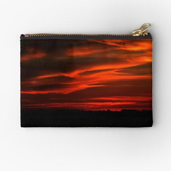 Sunset Reds Zipper Pouch