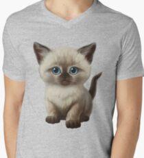 Cataclysm- Siamese Kitten Classic Men's V-Neck T-Shirt