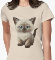 Cataclysm- Siamese Kitten Classic Womens Fitted T-Shirt