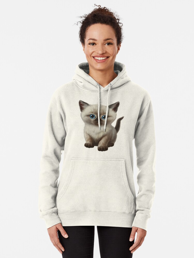 Alternate view of Cataclysm- Siamese Kitten Classic Pullover Hoodie