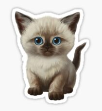 Cataclysm- Siamese Kitten Classic Sticker