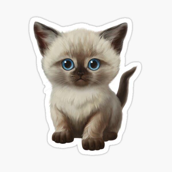 Cataclysm- Siamese Kitten Classic Sticker