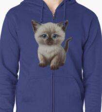Cataclysm: Siamesische Kätzchen-Tatzen Hoodie mit Reißverschluss