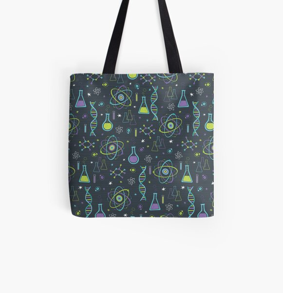 Midcentury Modern Science All Over Print Tote Bag