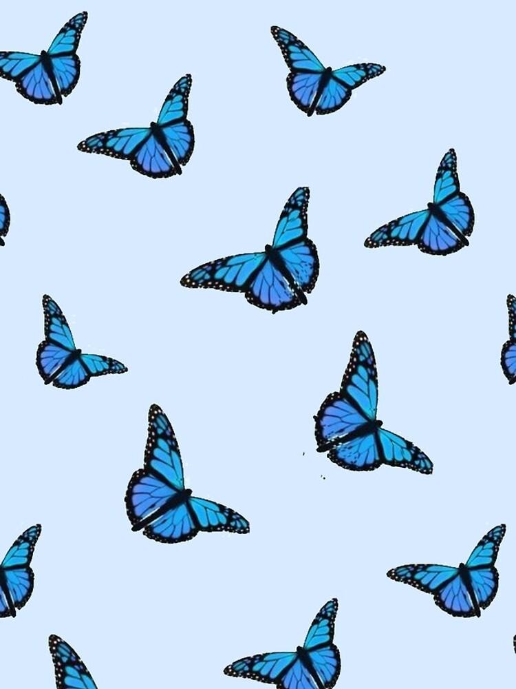 Blue Butterfly Pattern by paytonstach