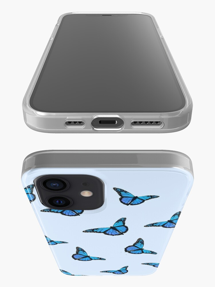 Alternate view of Blue Butterfly Pattern iPhone Case & Cover