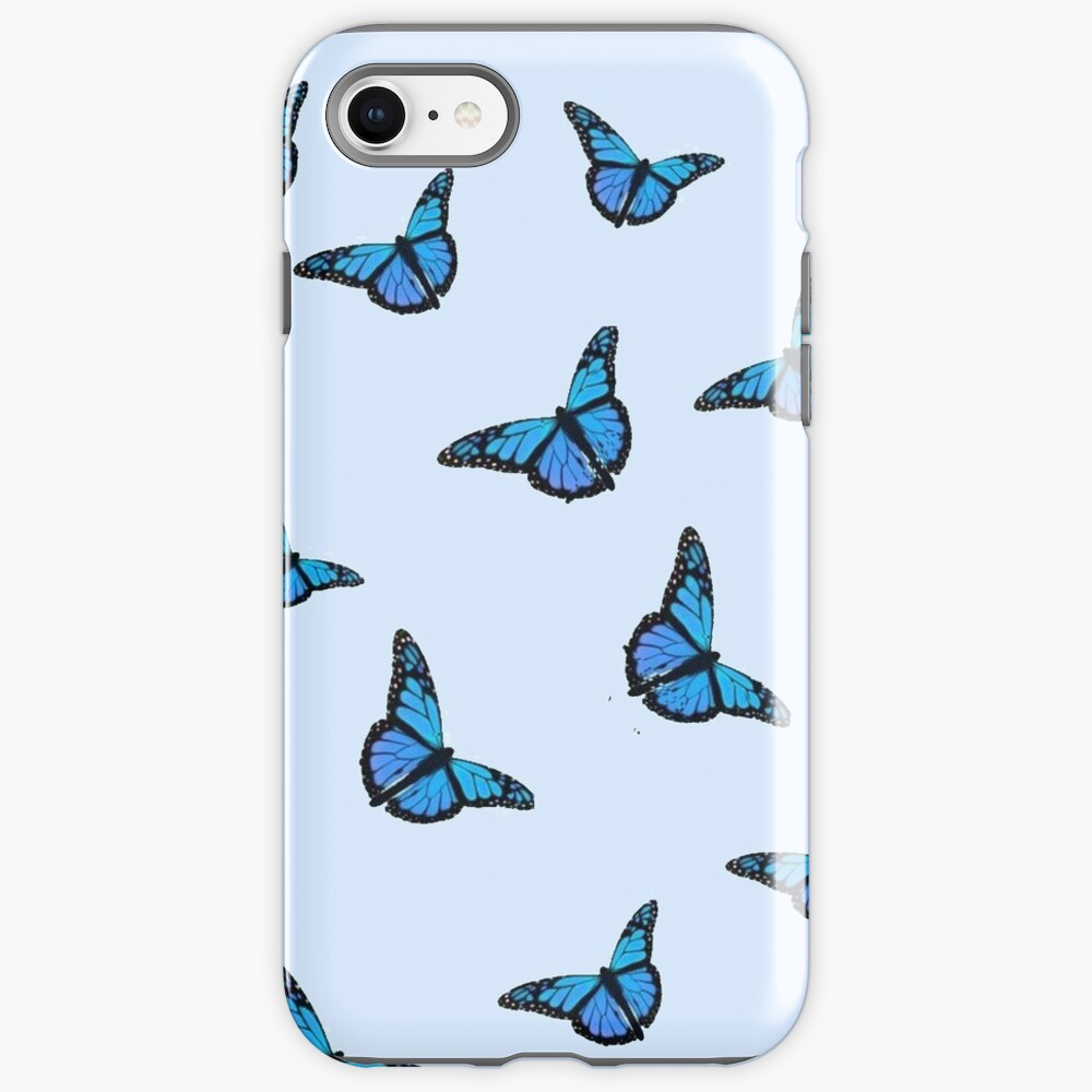 Blue Butterfly Pattern iPhone Case & Cover