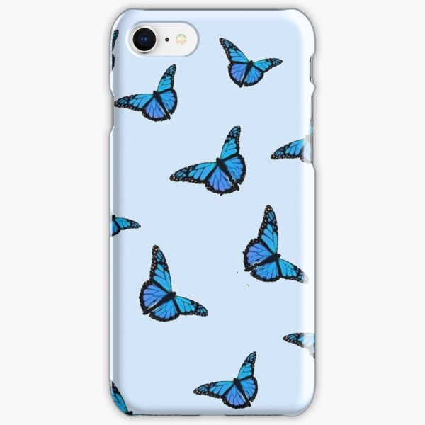 Blue Butterfly Pattern iPhone Snap Case