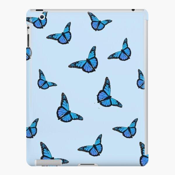 Blue Butterfly Pattern iPad Snap Case
