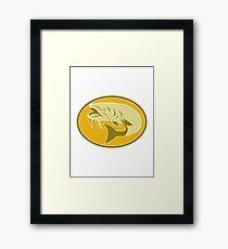 catfish fish retro Framed Print