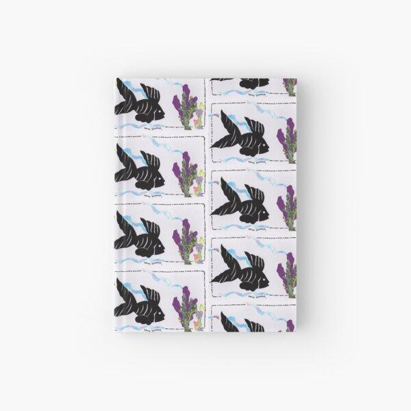 Silhouette Fish Design Hardcover Journal