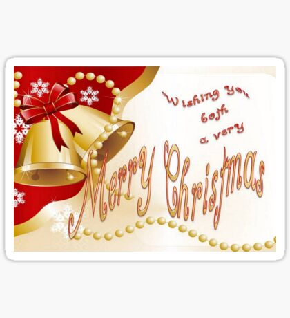 Wishing You Both A Very Merry Christmas Sticker