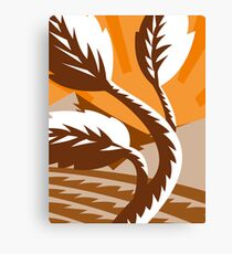 growing plant leaf field mountains Canvas Print