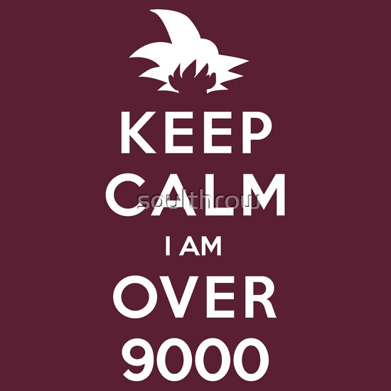 TShirtGifter presents: Keep Calm I am Over 9000 | Unisex T-Shirt
