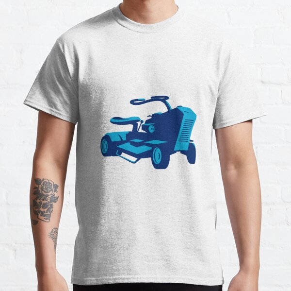 vintage ride on lawn mower retro Classic T-Shirt